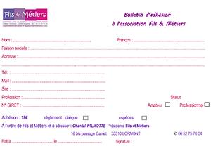 Bulletin Association Fils et Métiers